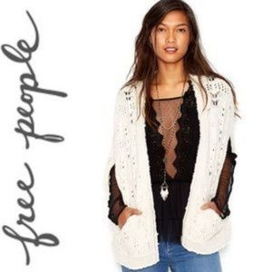 Free people ivory leaf sweater vest size Medium